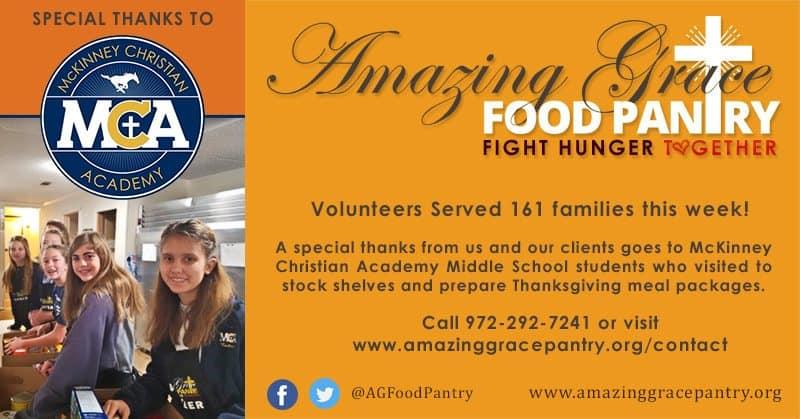 AGFP Social Update - McKinney Christian Academy