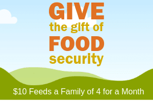$10 Feeds a Family of 4 for a Month