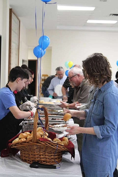 Food at Volunteer Apprecation Celebration 2019