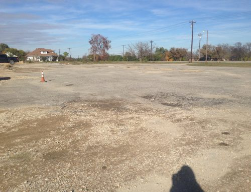 Parking lot resurfacing