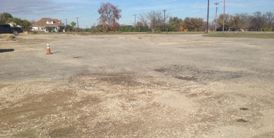 Pantry parking lot needs resurfacing