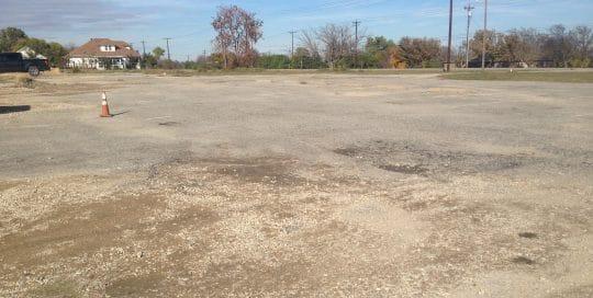 Pantry parking lot needs resurfacing