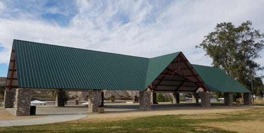 Large pavilion for outdoor events at pantry