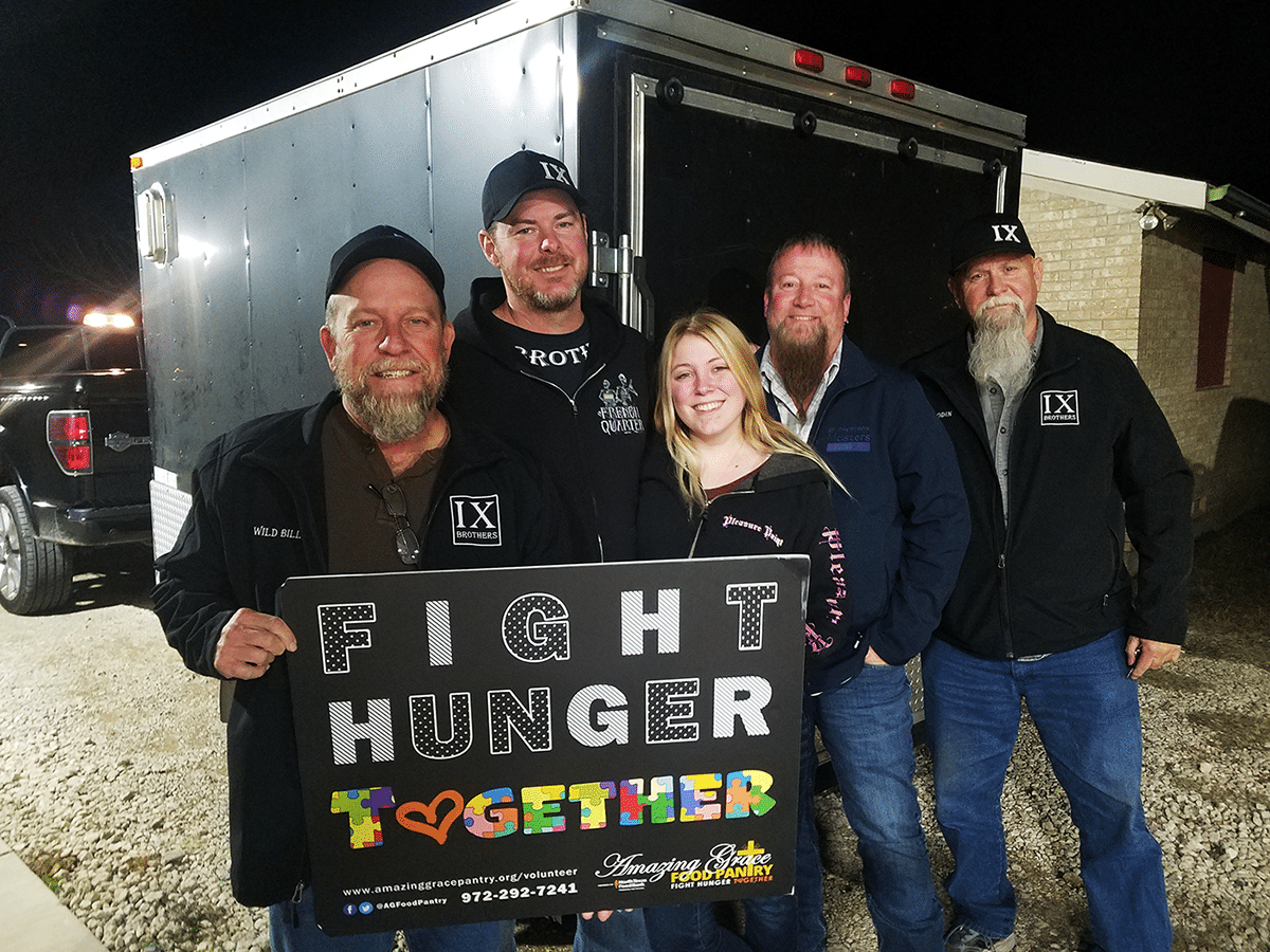 IX Brothers Motocycle Club helps Amazing Grace Food Pantry