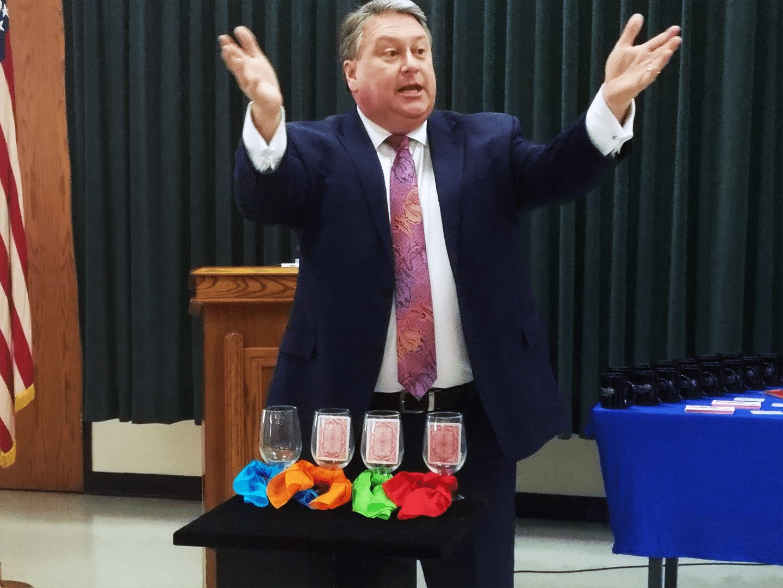 Wylie Mayor Hogue at Amazing Grace Food Pantry Volunteer Appreciation 2020