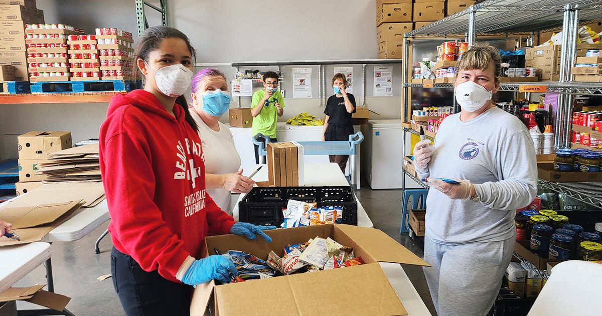 Volunteers serve during coronavirus crisis