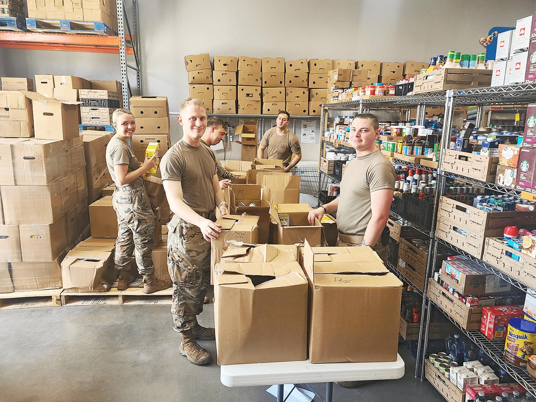 National Guard visits Amazing Grace Food Pantry