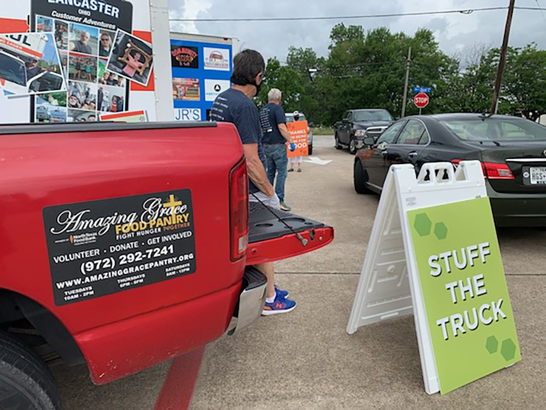 Chase Oaks Stuff the Truck food drive