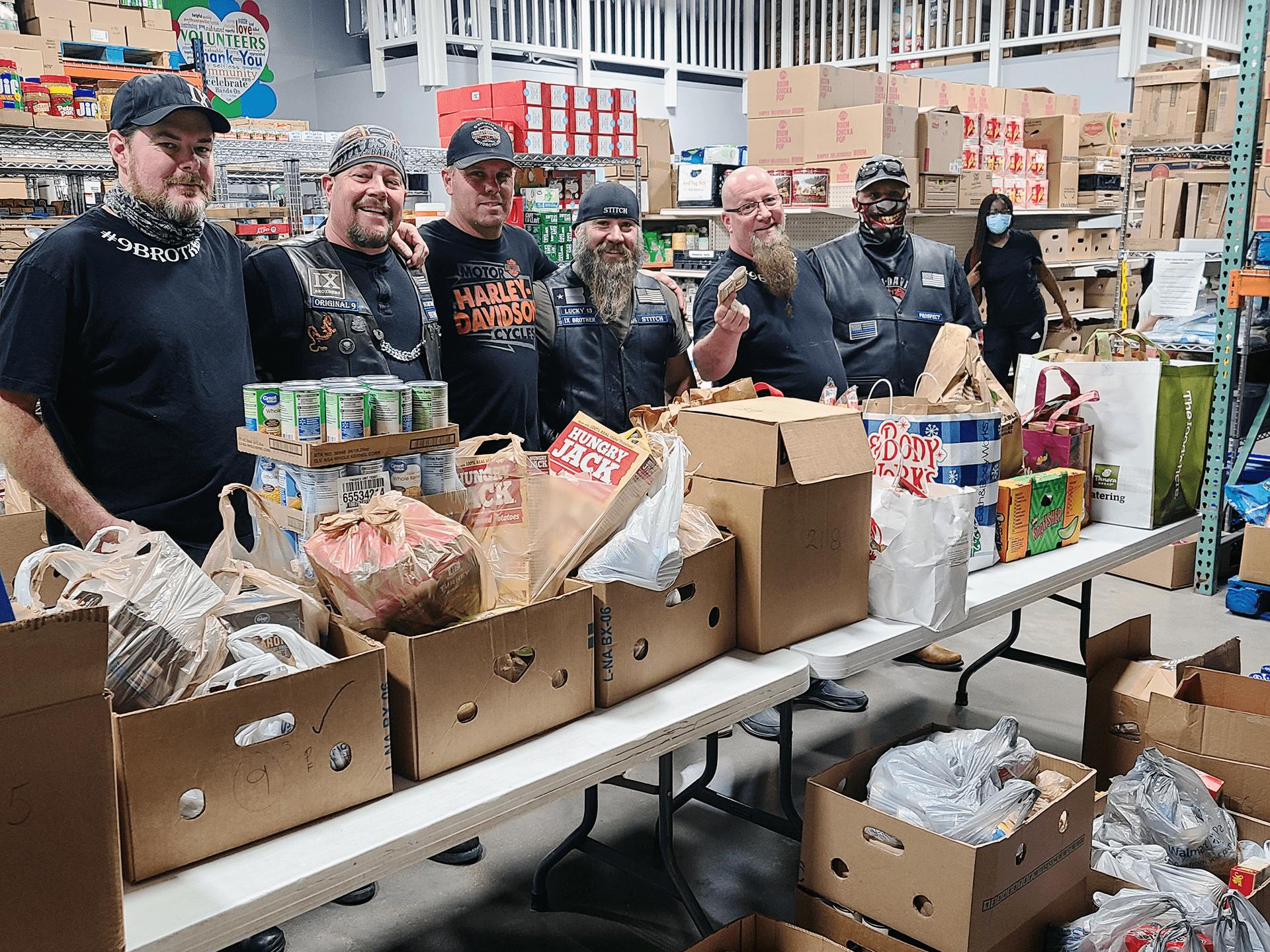 IX Brothers MC donates to Amazing Grace Food Pantry