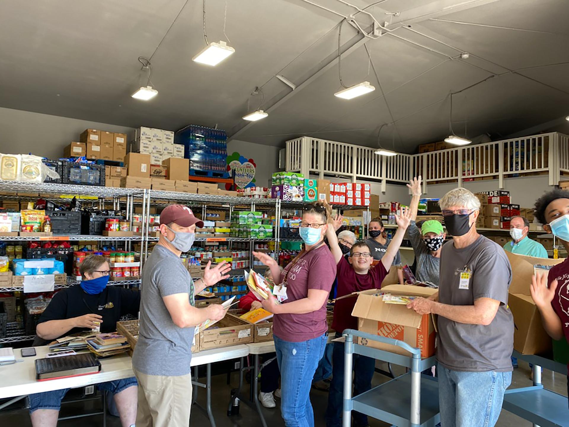 Wyatt Elementary School Donates Books at Amazing Grace Food Pantry