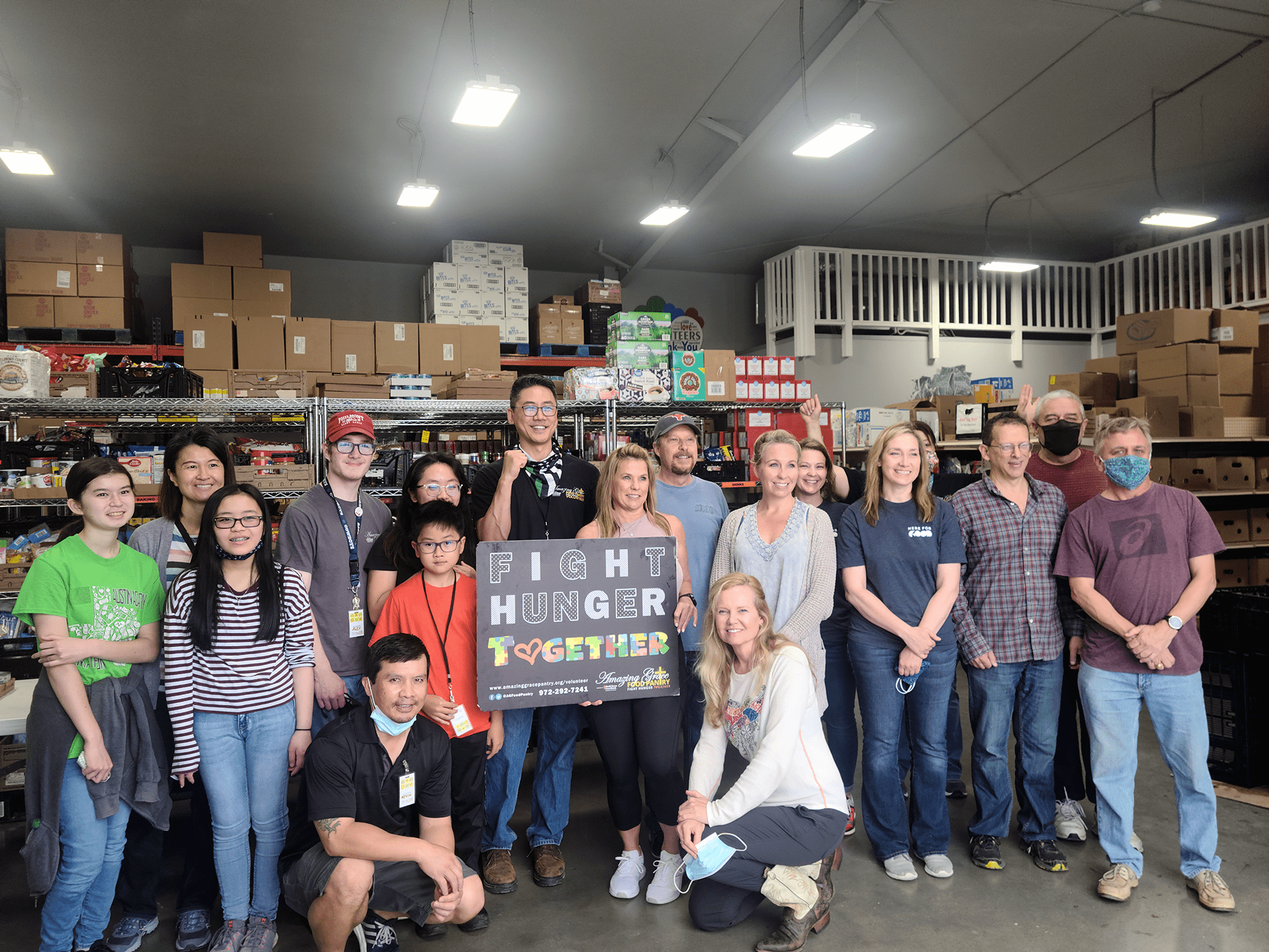Chase Oaks Church volunteers at Amazing Grace Food Pantry