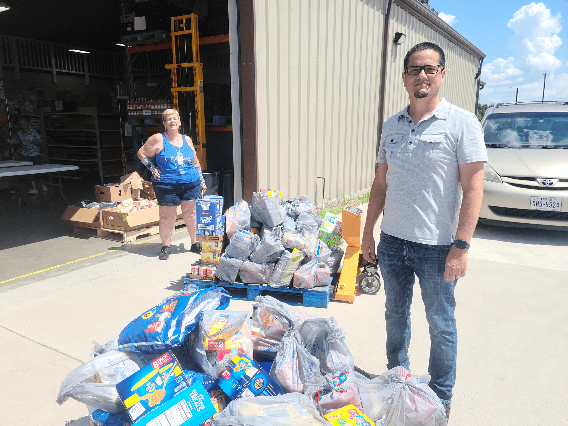 The Story Church in Wylie Donates to Amazing Grace Food Pantry